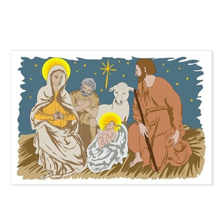 Christmas Nativity Postcards (Package of 8)
