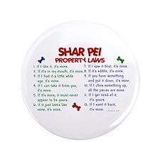 "Shar Pei Property Laws 2 3.5"" Button"