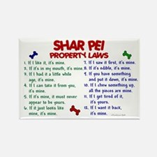 Shar Pei Property Laws 2 Rectangle Magnet (100 pac