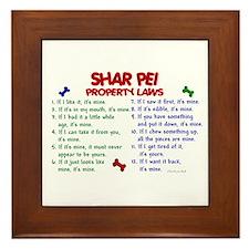 Shar Pei Property Laws 2 Framed Tile