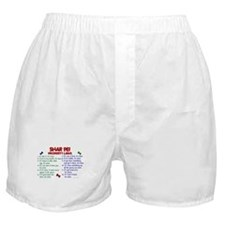 Shar Pei Property Laws 2 Boxer Shorts