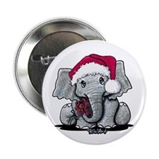 """Holiday Elephant 2.25"""" Button"""
