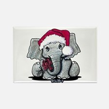 Holiday Elephant Rectangle Magnet (10 pack)