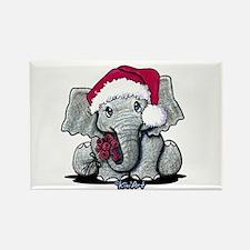 Holiday Elephant Rectangle Magnet