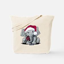 Holiday Elephant Tote Bag