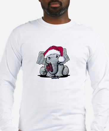 Holiday Elephant Long Sleeve T-Shirt