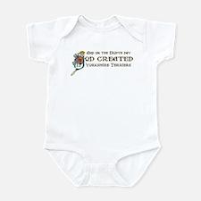 God Created Yorkies Infant Bodysuit