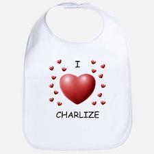 I Love Charlize - Bib
