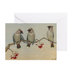 Waxwings Holiday Cards (Pk of 10)