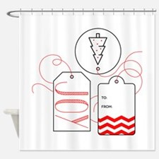 Joy Gift Tag Shower Curtain