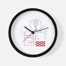 Joy Gift Tag Wall Clock