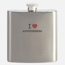 I Love AUCTIONEERS Flask