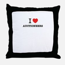 I Love AUCTIONEERS Throw Pillow