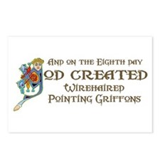 God Created Griffons Postcards (Package of 8)