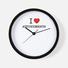 I Love ATTUNEMENTS Wall Clock