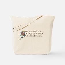 God Created Foxies Tote Bag
