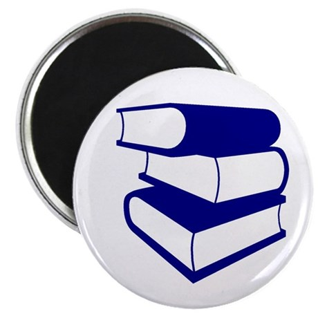 Stack Of Blue Books Magnet