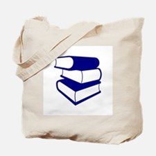 Stack Of Blue Books Tote Bag
