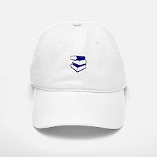 Stack Of Blue Books Baseball Baseball Cap