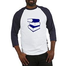 Stack Of Blue Books Baseball Jersey