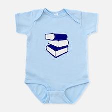 Stack Of Blue Books Infant Bodysuit