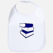 Stack Of Blue Books Bib