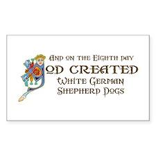 God Created Shepherds Rectangle Decal