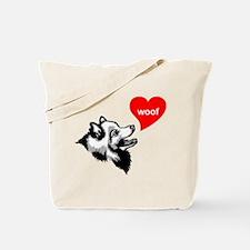 Japanese Spitz Tote Bag
