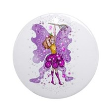 Polly The Playtime Fairy Round Ornament