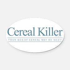 Cereal Killer Oval Car Magnet