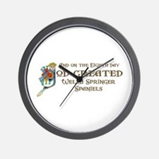 God Created Welshies Wall Clock