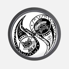 Ying Yang - Fox Nerd Wall Clock