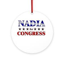 NADIA for congress Ornament (Round)