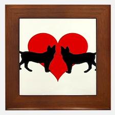 Cat lovers Framed Tile