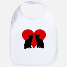 Cat couple Bib