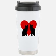 Cat couple Stainless Steel Travel Mug