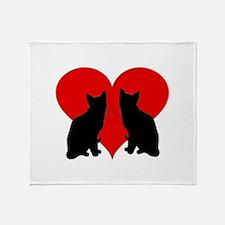 Cat couple Throw Blanket