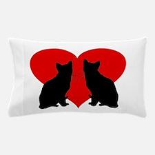 Cat couple Pillow Case