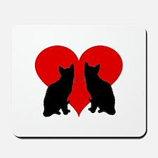 Cat couple Mousepad