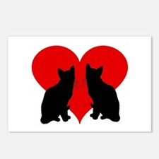 Cat couple Postcards (Package of 8)