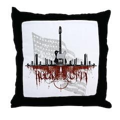Rock City 2 Throw Pillow
