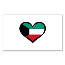 Kuwait Love Rectangle Decal
