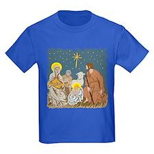 Christmas Nativity Kids Bright Dark T-Shirt