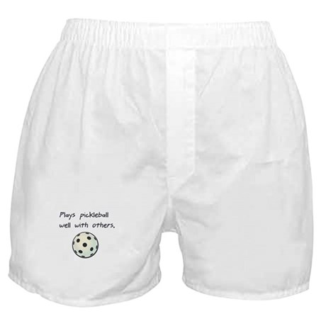 Plays Pickleball Well With Ot Boxer Shorts