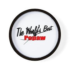 """The World's Best Popaw"" Wall Clock"