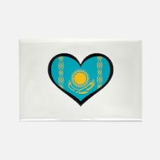 Kazakhstan Love Rectangle Magnet