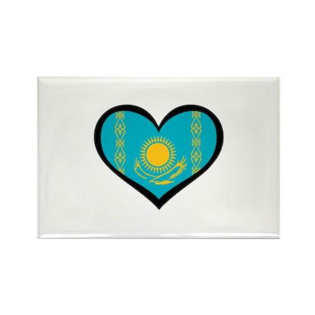 Kazakhstan Love Rectangle Magnet (10 pack)