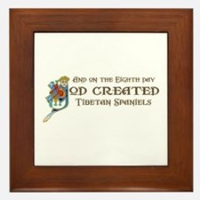 God Created Tibbies Framed Tile