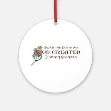 God Created Tibbies Ornament (Round)