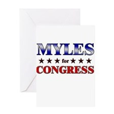 MYLES for congress Greeting Card